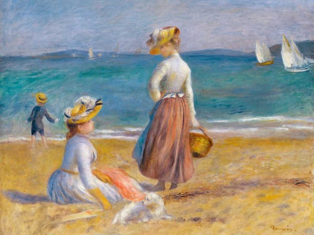 konfigurieren des Kunstdrucks in Wunschgröße Figures on the Beach von Renoir, Pierre-Auguste