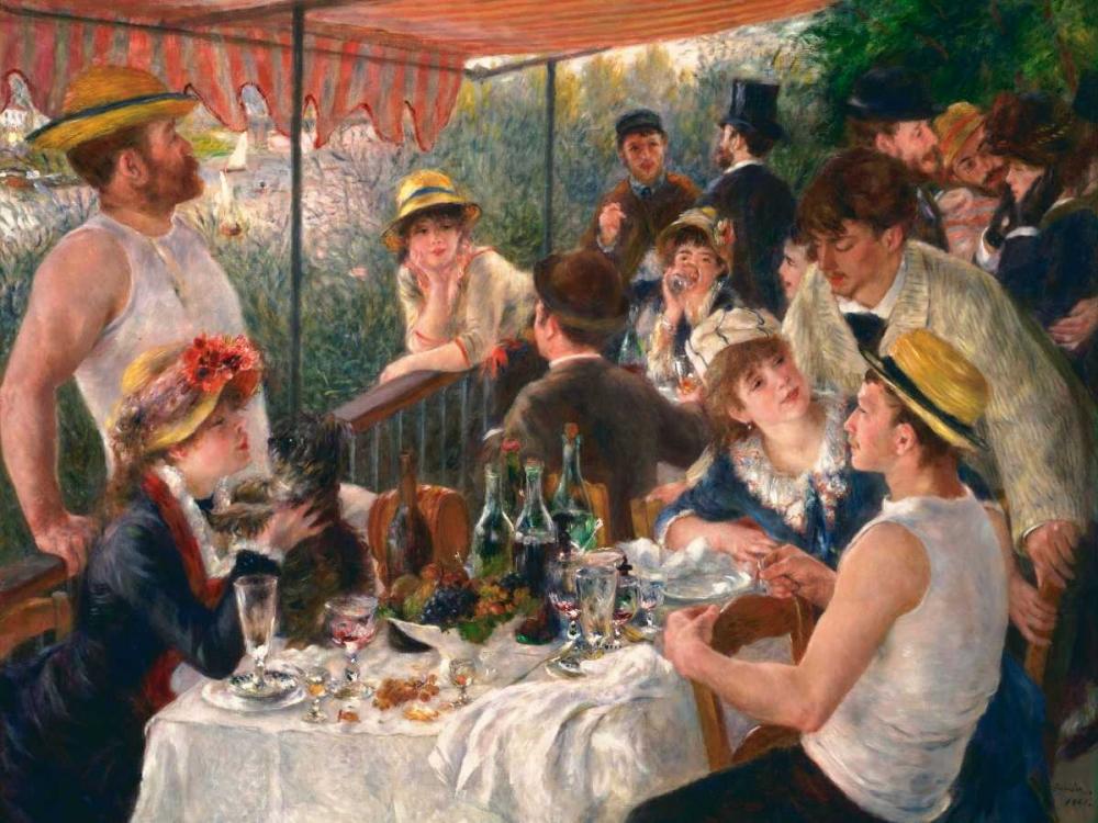 konfigurieren des Kunstdrucks in Wunschgröße Luncheon of the Boating Party von Renoir, Pierre-Auguste