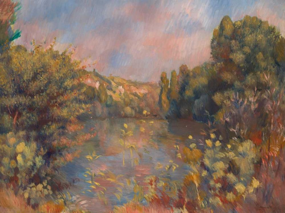 konfigurieren des Kunstdrucks in Wunschgröße Lakeside Landscape von Renoir, Pierre-Auguste