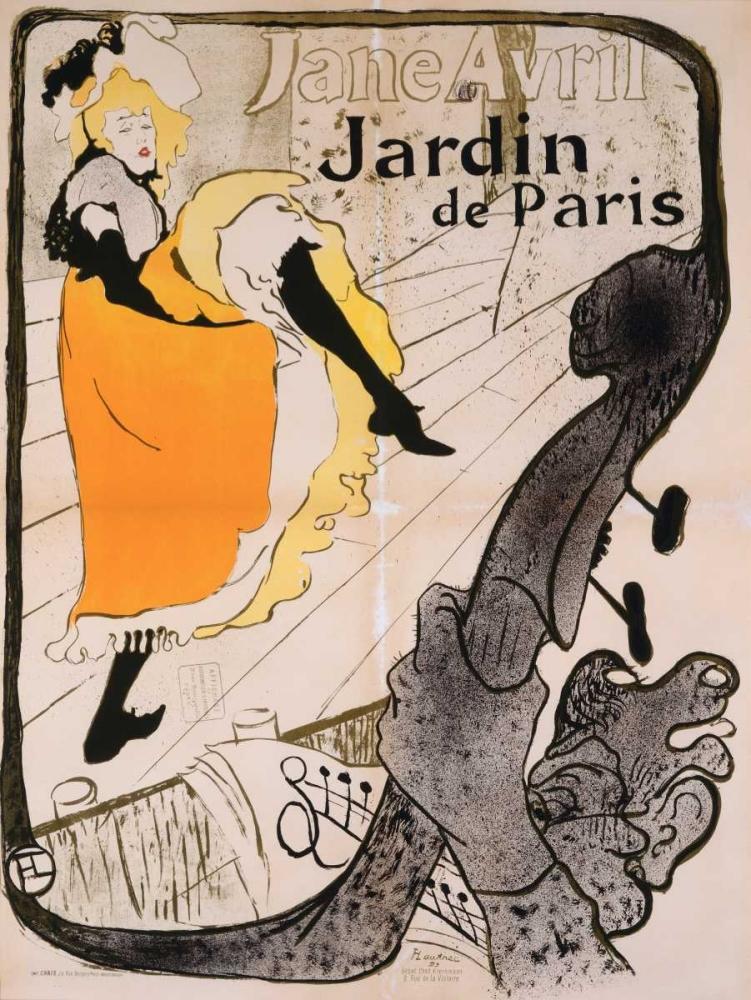 konfigurieren des Kunstdrucks in Wunschgröße Jane Avril Poster von De Toulouse-Lautrec, Henri