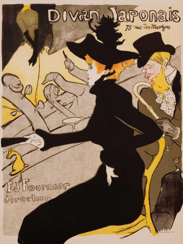 konfigurieren des Kunstdrucks in Wunschgröße Divan Japonais Poster von De Toulouse-Lautrec, Henri
