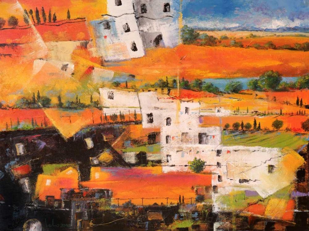 konfigurieren des Kunstdrucks in Wunschgröße Dalla citta alla campagna von Marzari, Tebo