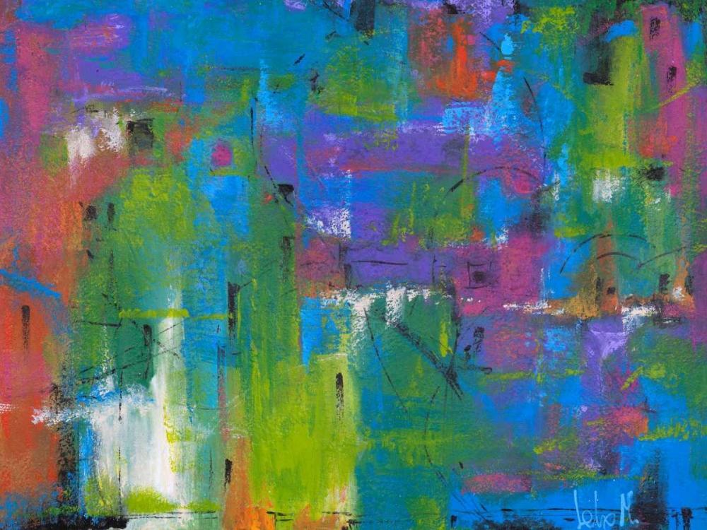 konfigurieren des Kunstdrucks in Wunschgröße Quartiere colorato von Marzari, Tebo