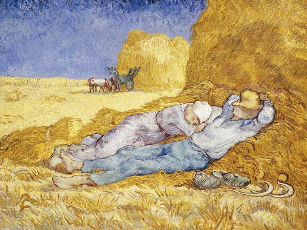 konfigurieren des Kunstdrucks in Wunschgröße Noon- Rest von Van Gogh, Vincent
