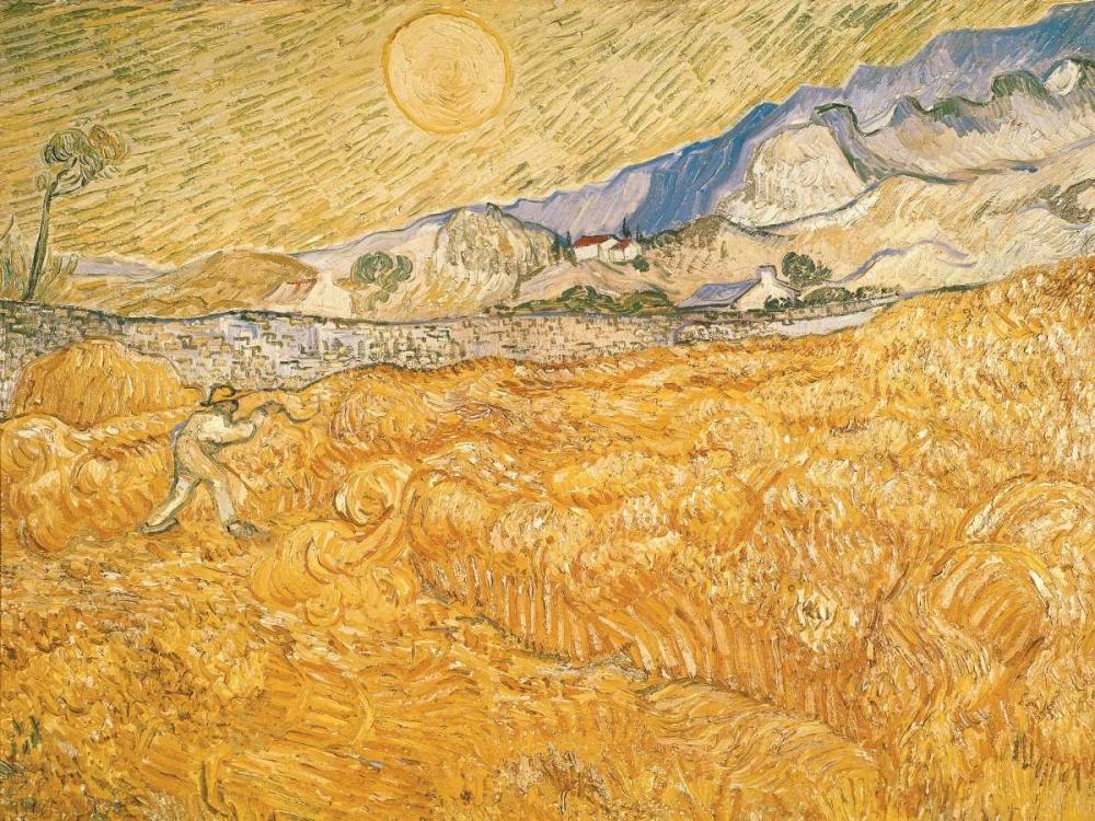 konfigurieren des Kunstdrucks in Wunschgröße The Harvester von Van Gogh, Vincent