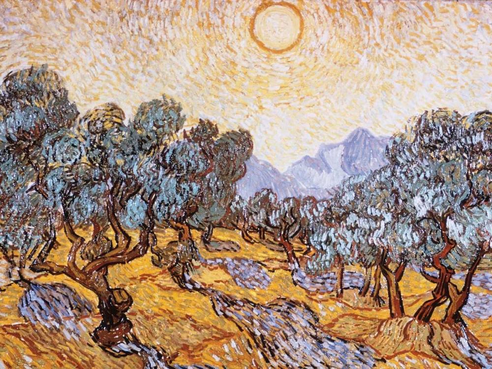 konfigurieren des Kunstdrucks in Wunschgröße The Olive Trees von Van Gogh, Vincent