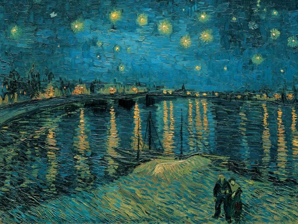 konfigurieren des Kunstdrucks in Wunschgröße The Starry Night von Van Gogh, Vincent