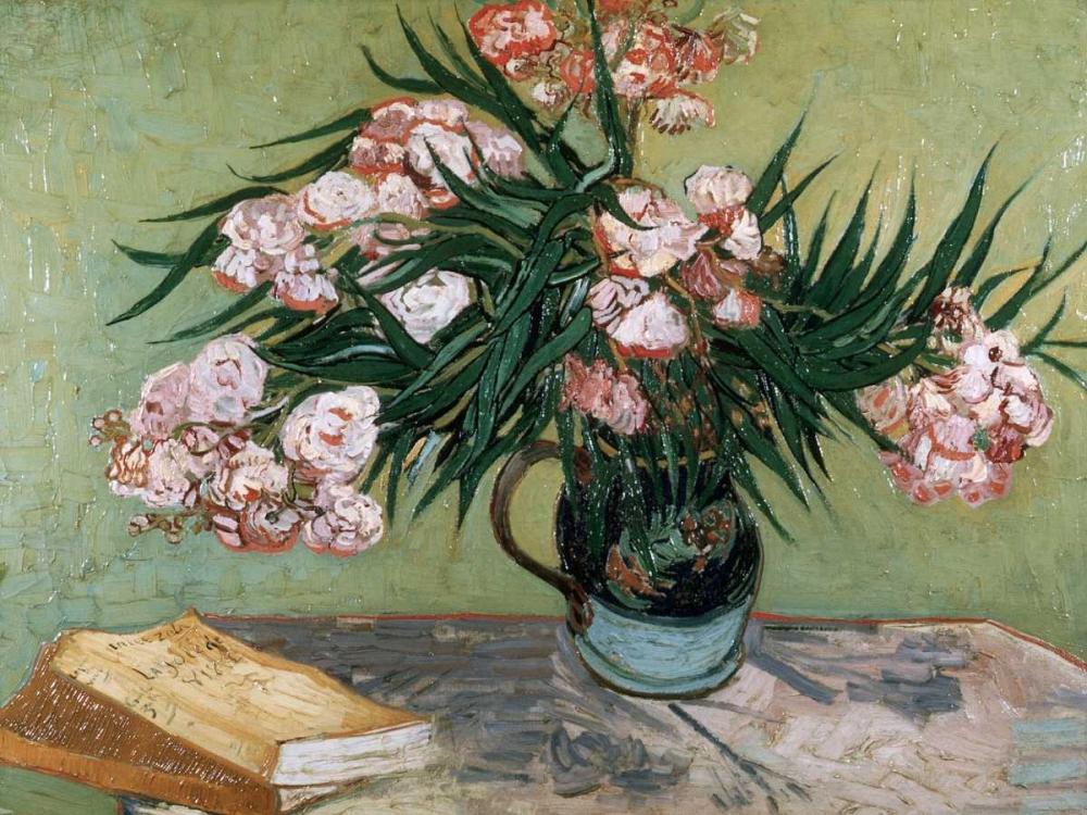 konfigurieren des Kunstdrucks in Wunschgröße Vase with Oleanders and Books von Van Gogh, Vincent