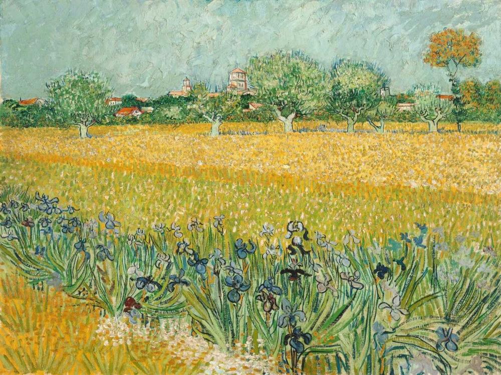 konfigurieren des Kunstdrucks in Wunschgröße Field with Irises near Arles von Van Gogh, Vincent