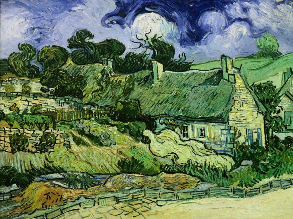 konfigurieren des Kunstdrucks in Wunschgröße House with Straw Ceiling Cordeville von Van Gogh, Vincent