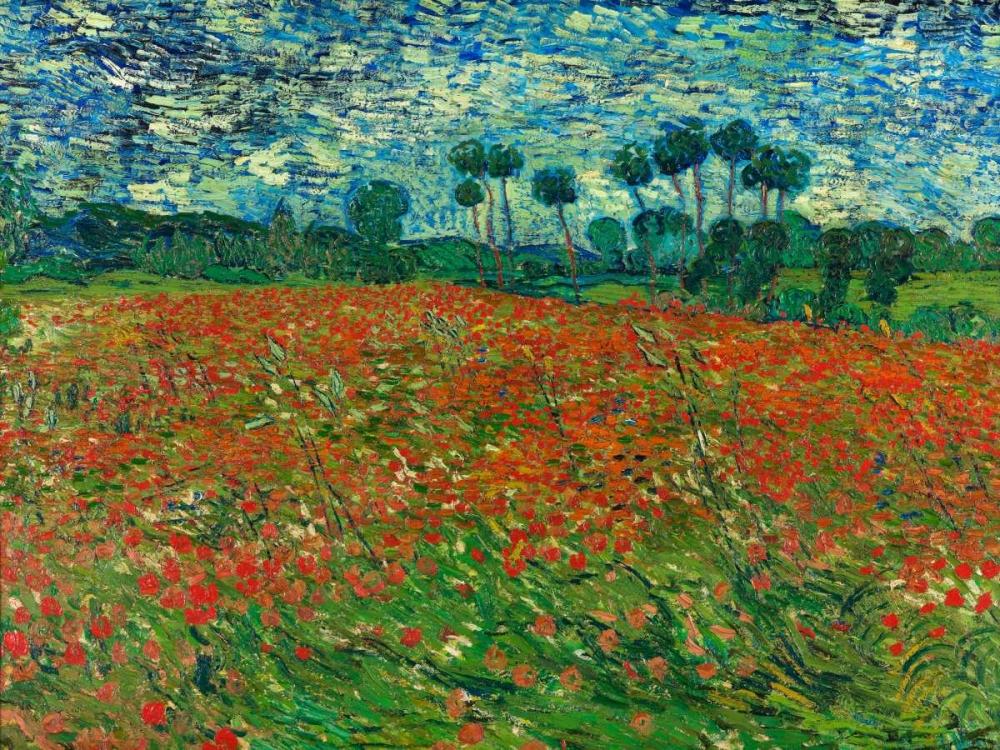 konfigurieren des Kunstdrucks in Wunschgröße Poppy field von Van Gogh, Vincent