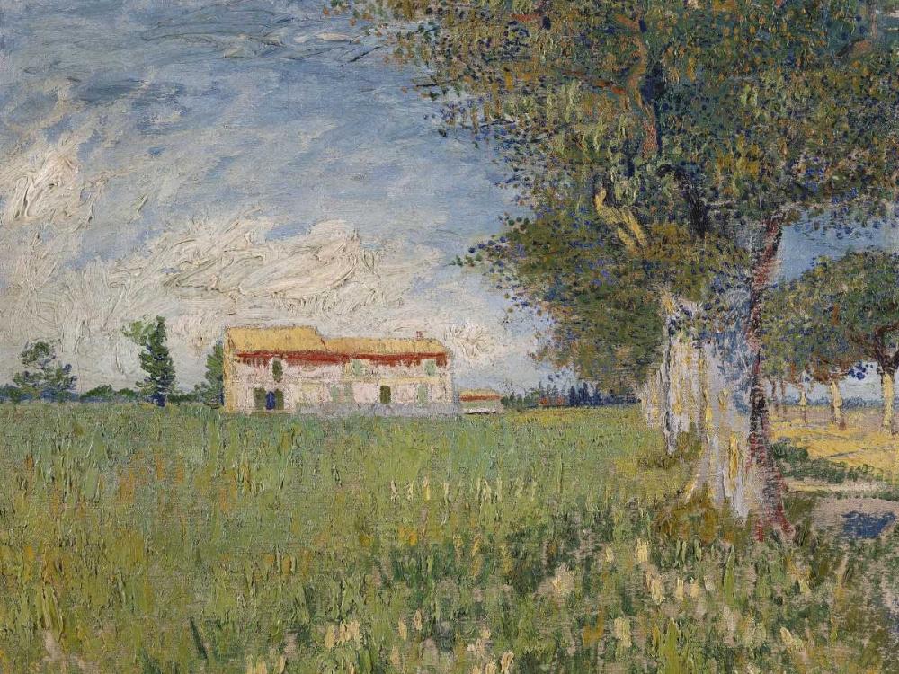 konfigurieren des Kunstdrucks in Wunschgröße Boerderij in een korenveld von Van Gogh, Vincent
