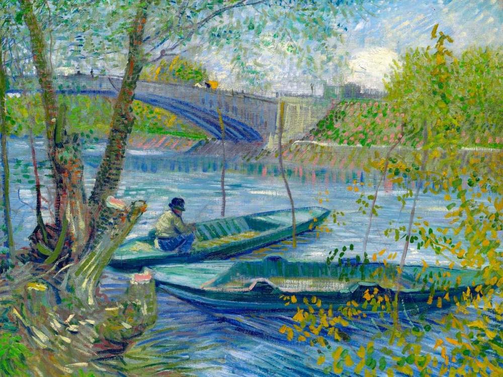 konfigurieren des Kunstdrucks in Wunschgröße Fishing in Spring-the Pont de Clichy von Van Gogh, Vincent