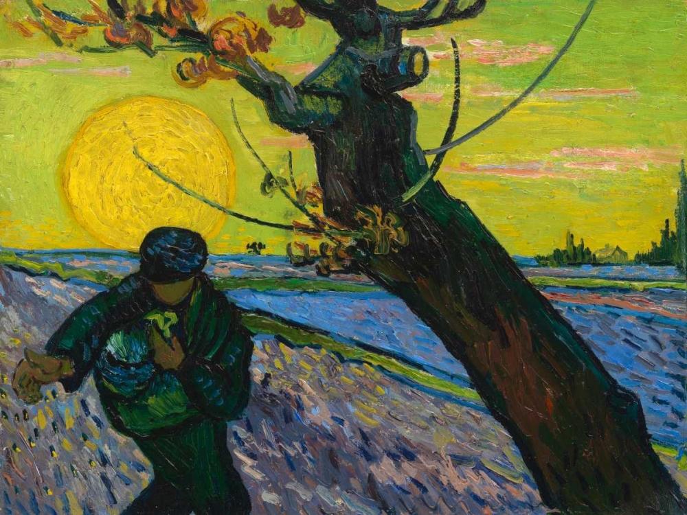 konfigurieren des Kunstdrucks in Wunschgröße The sower von Van Gogh, Vincent