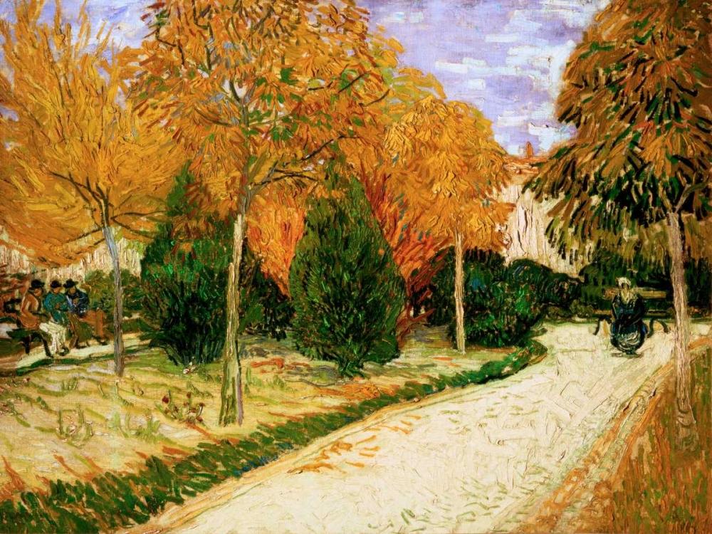 konfigurieren des Kunstdrucks in Wunschgröße Garden in Autumn von Van Gogh, Vincent