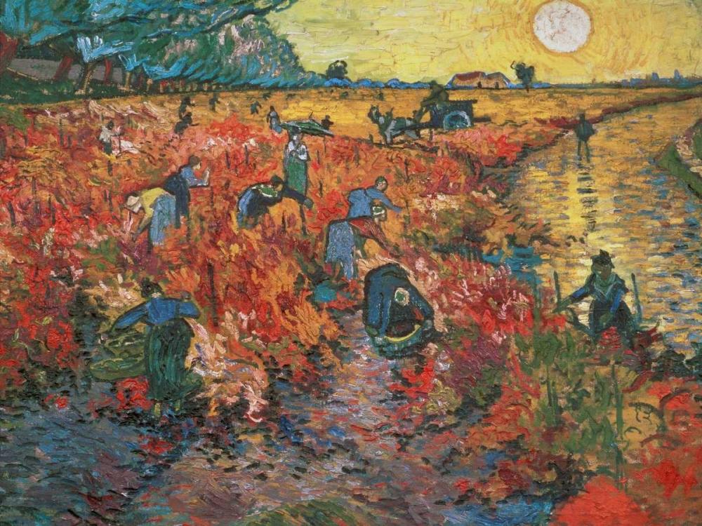 konfigurieren des Kunstdrucks in Wunschgröße The red Vineyard at Arles von Van Gogh, Vincent