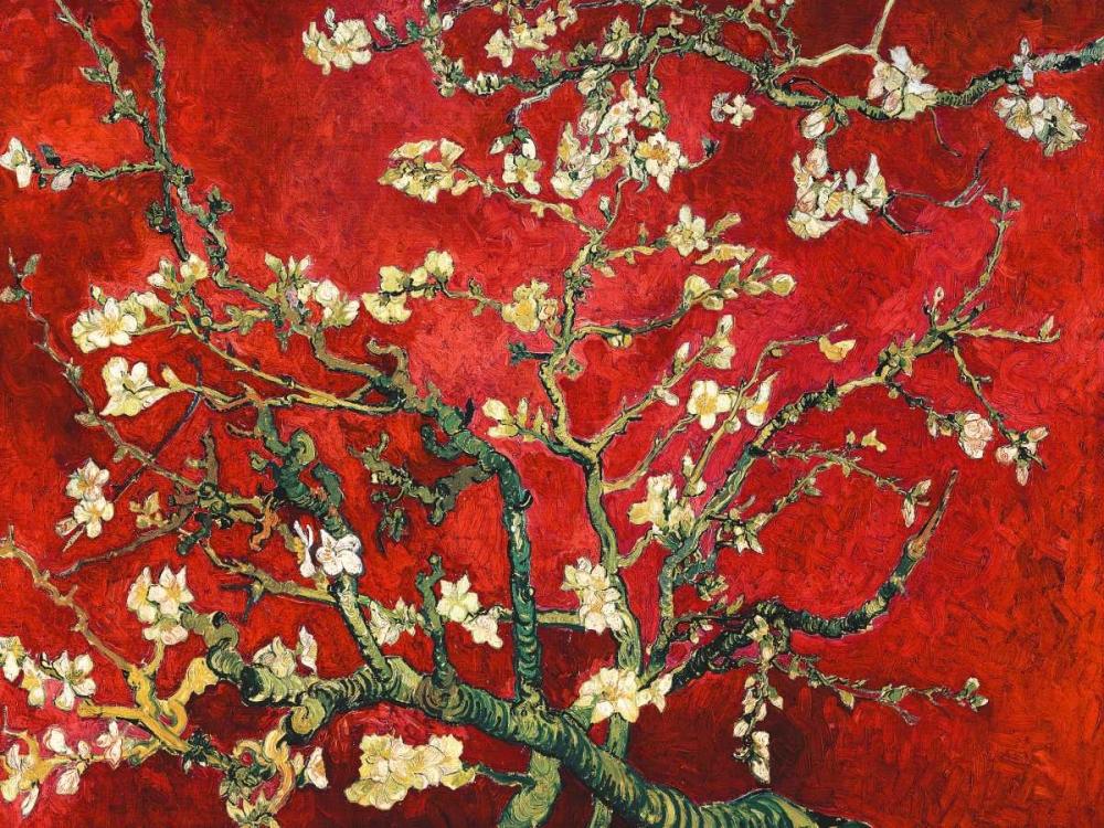 konfigurieren des Kunstdrucks in Wunschgröße Mandorlo in fiore (red variation) von Van Gogh, Vincent