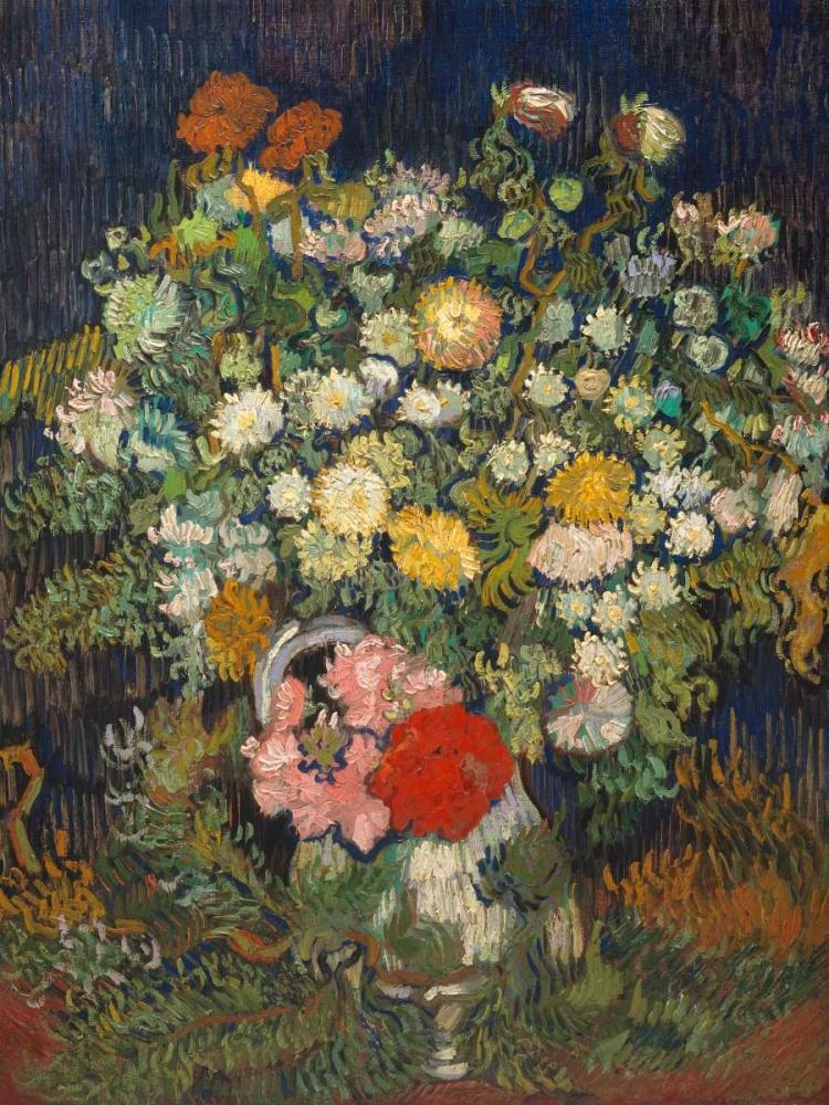 konfigurieren des Kunstdrucks in Wunschgröße Bouquet of Flowers in a Vase von Van Gogh, Vincent