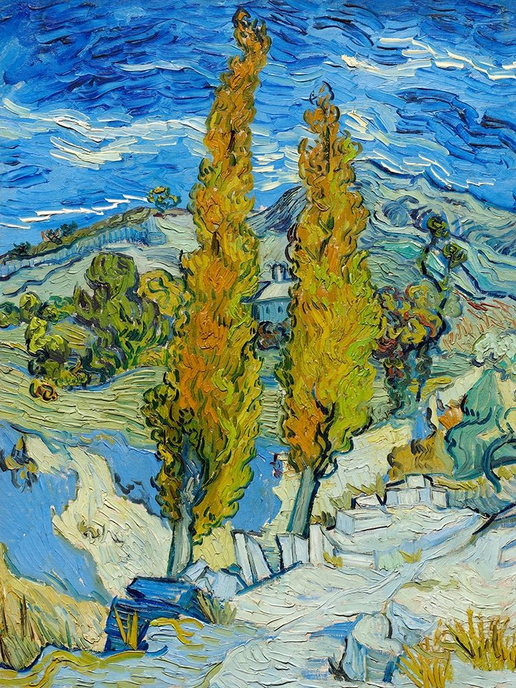 konfigurieren des Kunstdrucks in Wunschgröße The Poplars at Saint-Remy von Van Gogh, Vincent
