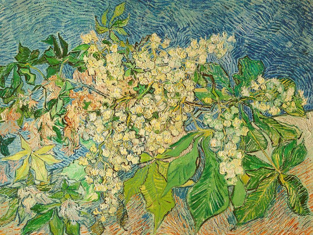 konfigurieren des Kunstdrucks in Wunschgröße Blossoming Chestnut Branch von Van Gogh, Vincent