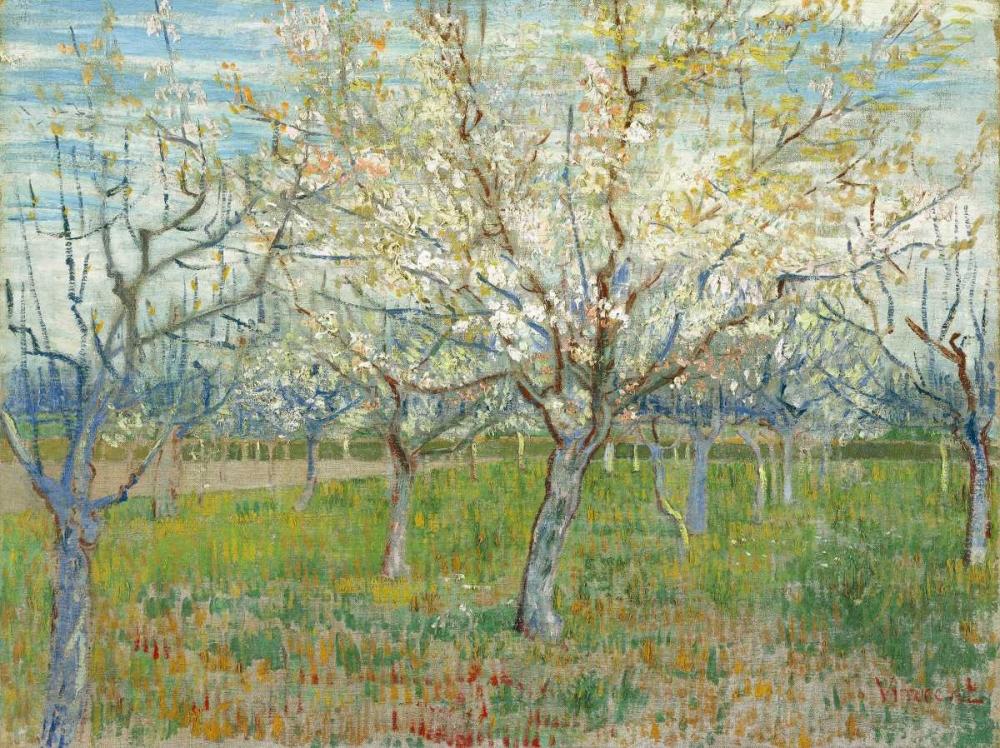 konfigurieren des Kunstdrucks in Wunschgröße The Pink Orchard von Van Gogh, Vincent