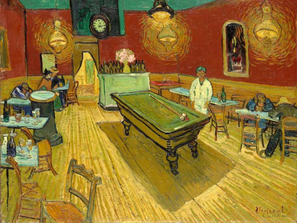 konfigurieren des Kunstdrucks in Wunschgröße The Night Cafe (detail) von Van Gogh, Vincent