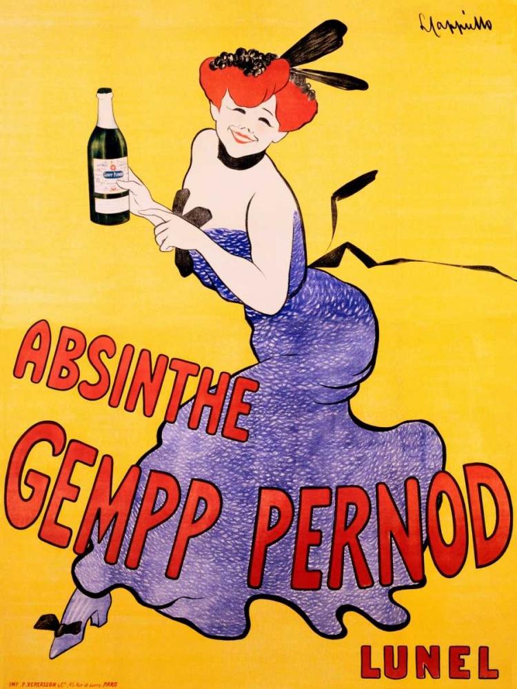 konfigurieren des Kunstdrucks in Wunschgröße Absinthe Gempp Pernod 1903 von Cappiello, Leonetto