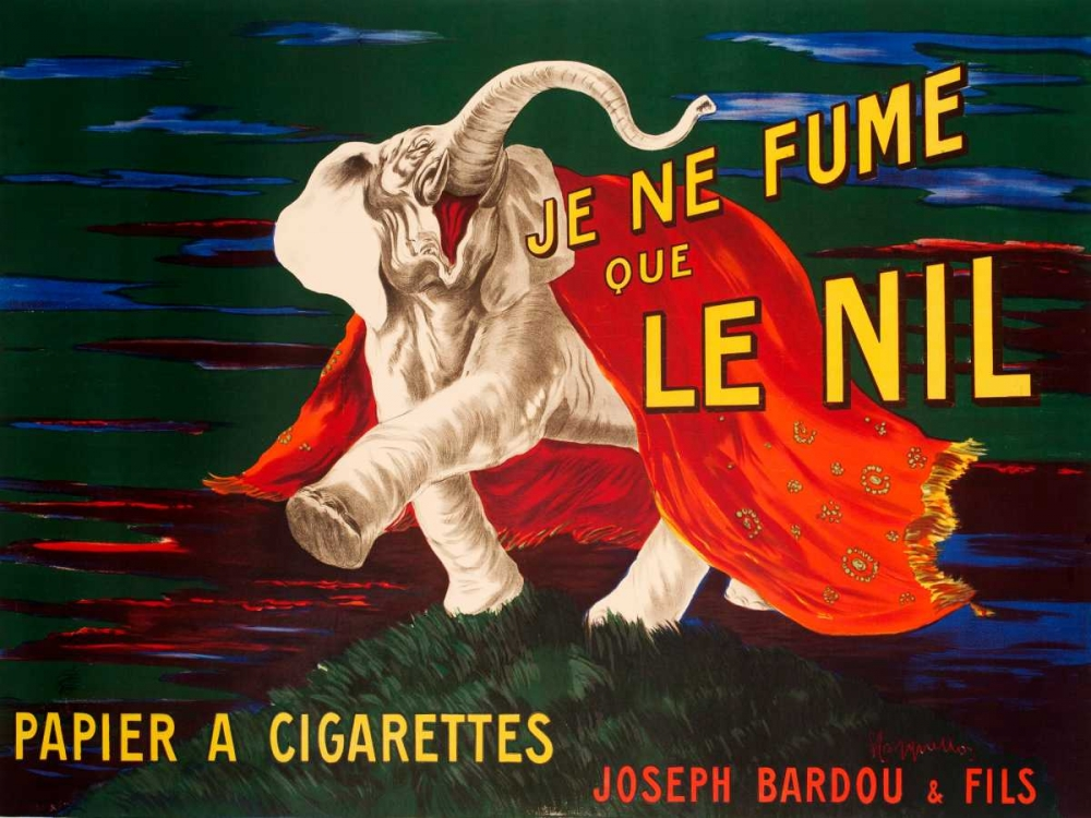 konfigurieren des Kunstdrucks in Wunschgröße Je ne fume que Le Nil 1912 von Cappiello, Leonetto