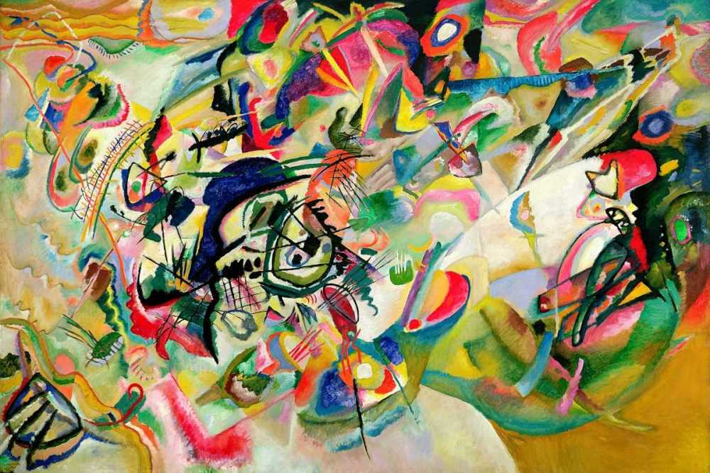 konfigurieren des Kunstdrucks in Wunschgröße Composition No. 7 von Kandinsky, Wassily