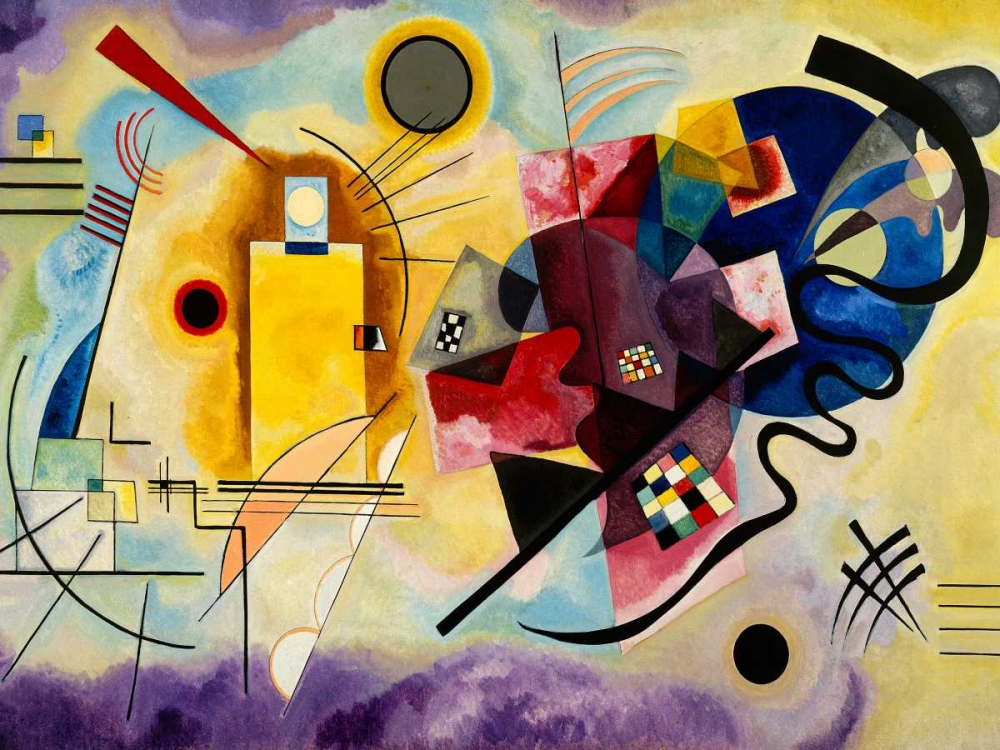 masters,Abstract,,,,,3WK2611,Yellow, Red and Blue,Kandinsky, Wassily,Horizontal