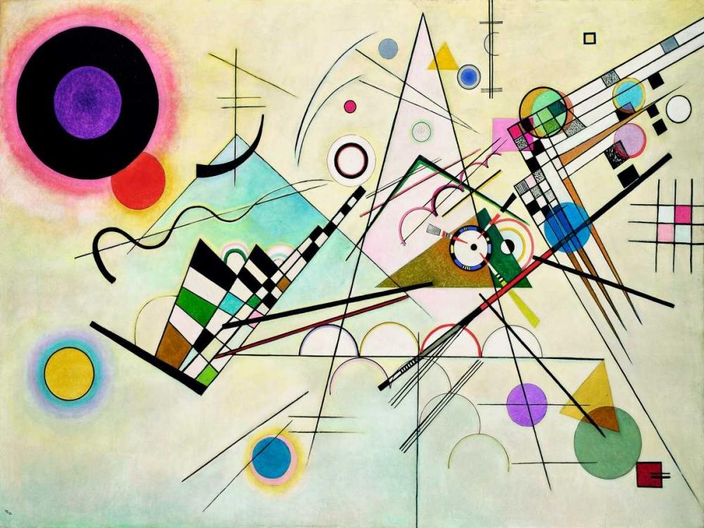 konfigurieren des Kunstdrucks in Wunschgröße Composition VIII von Kandinsky, Wassily