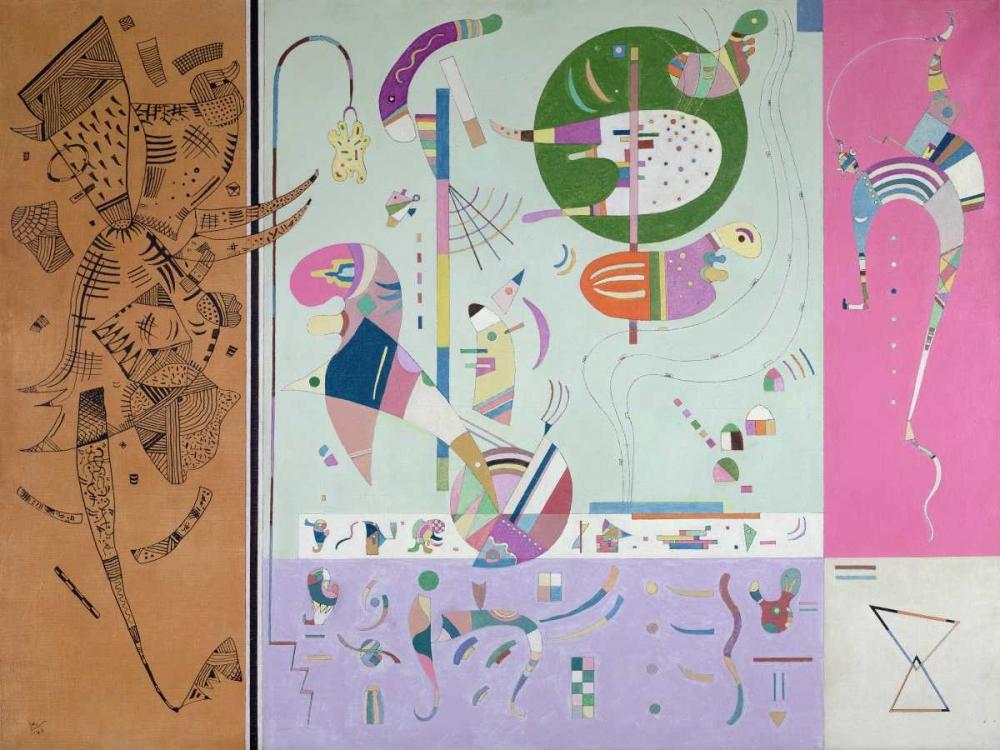 konfigurieren des Kunstdrucks in Wunschgröße Parties diverses von Kandinsky, Wassily