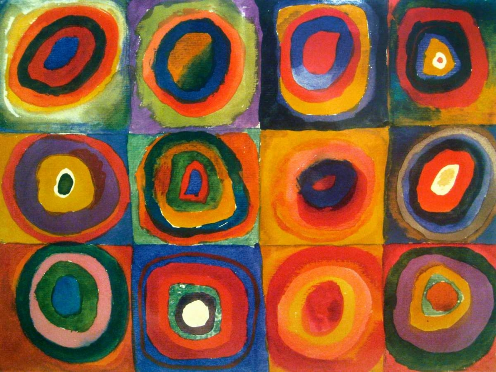 Squares with Concentric Circles von Kandinsky, Wassily <br> max. 155 x 117cm <br> Preis: ab 10€
