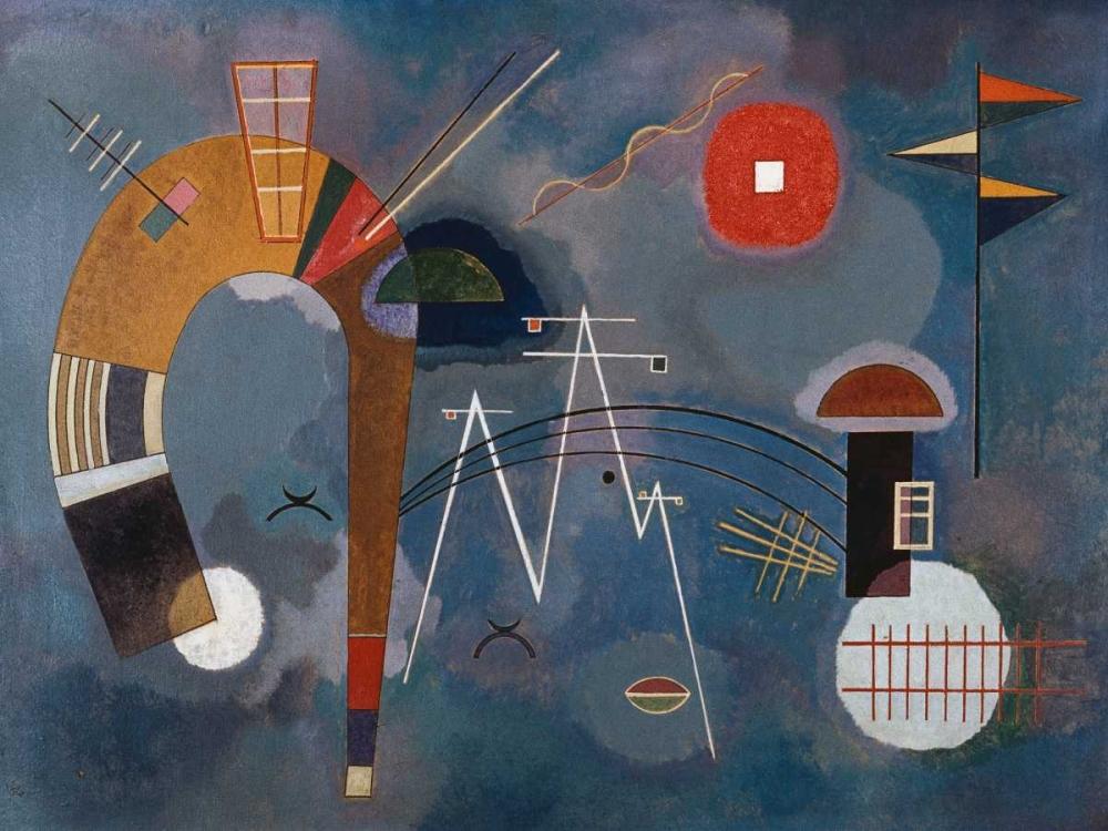 konfigurieren des Kunstdrucks in Wunschgröße Round and Pointed von Kandinsky, Wassily