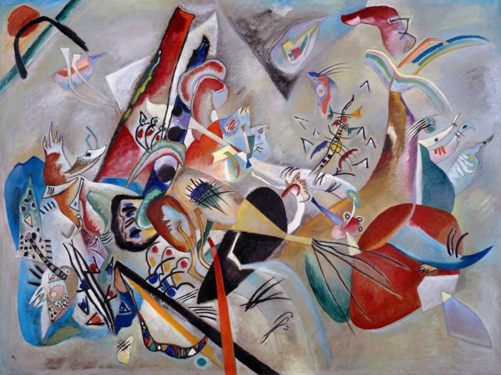 konfigurieren des Kunstdrucks in Wunschgröße Dans le gris von Kandinsky, Wassily