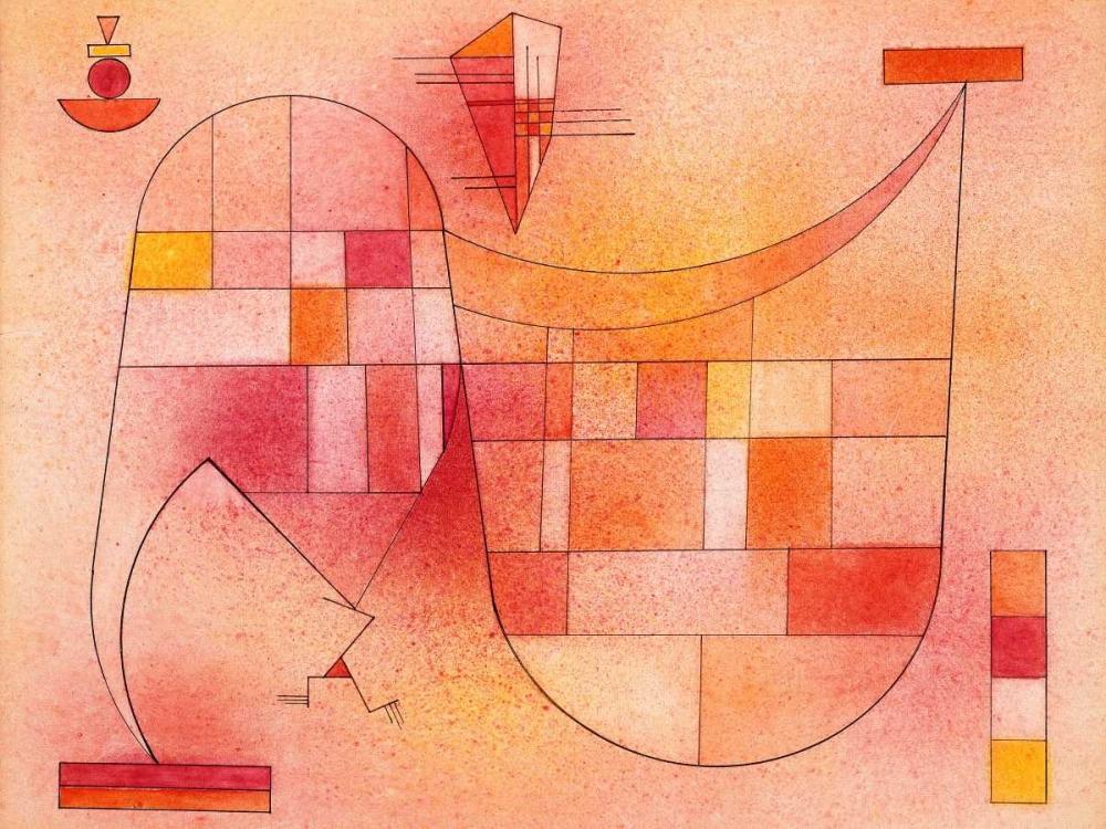 konfigurieren des Kunstdrucks in Wunschgröße Yellow Pink von Kandinsky, Wassily