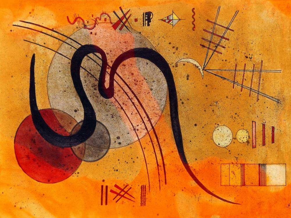 konfigurieren des Kunstdrucks in Wunschgröße Launelinie von Kandinsky, Wassily