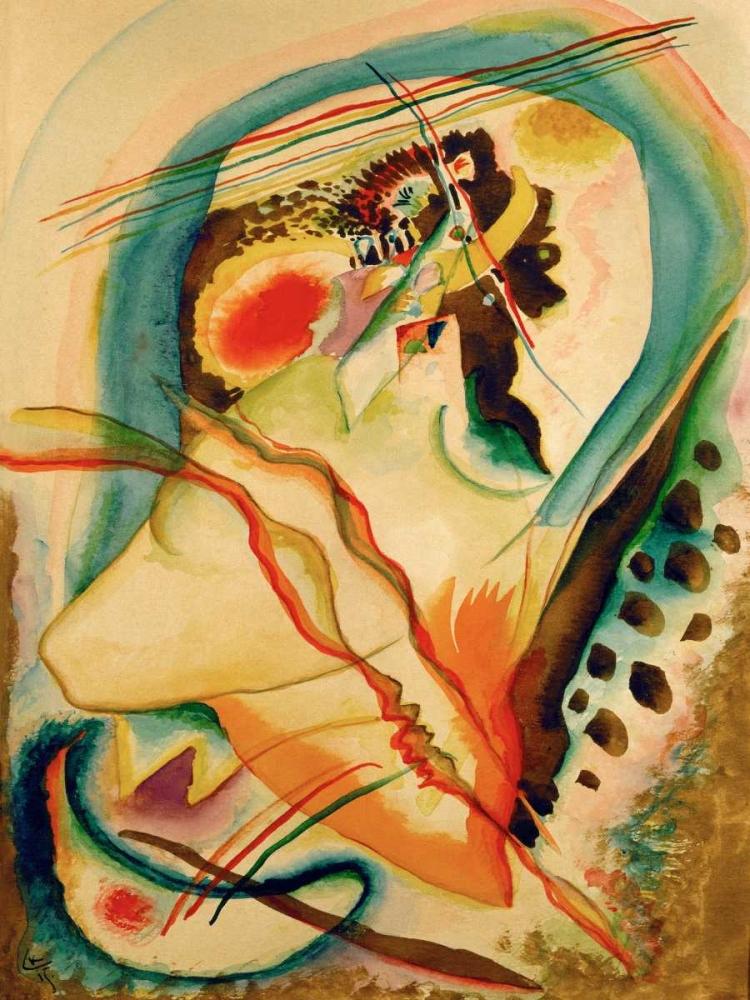 konfigurieren des Kunstdrucks in Wunschgröße Untitled composition von Kandinsky, Wassily