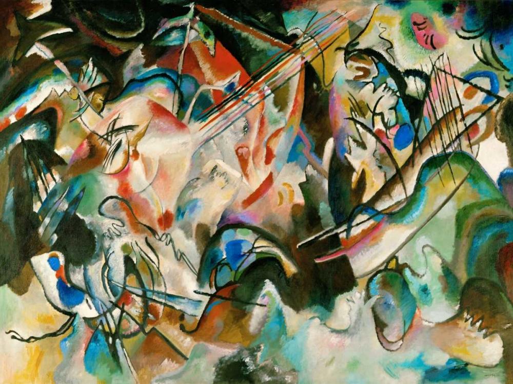 konfigurieren des Kunstdrucks in Wunschgröße Composition Number 6 von Kandinsky, Wassily