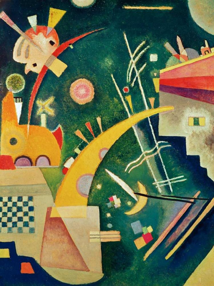 konfigurieren des Kunstdrucks in Wunschgröße Hornform von Kandinsky, Wassily