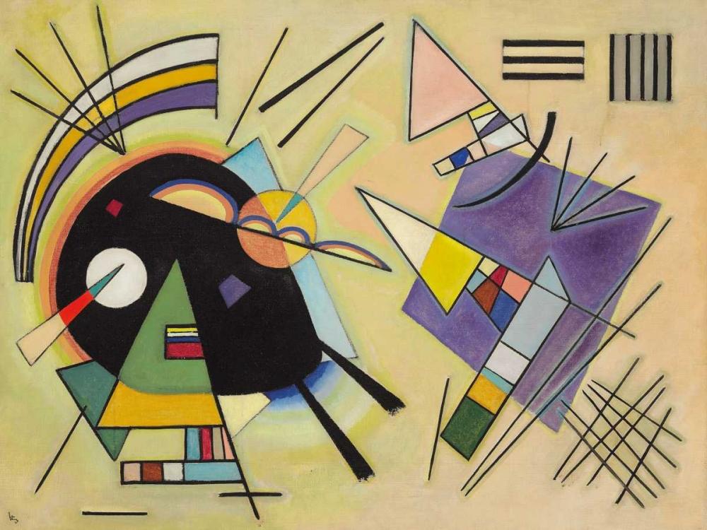 konfigurieren des Kunstdrucks in Wunschgröße Nero e viola von Kandinsky, Wassily