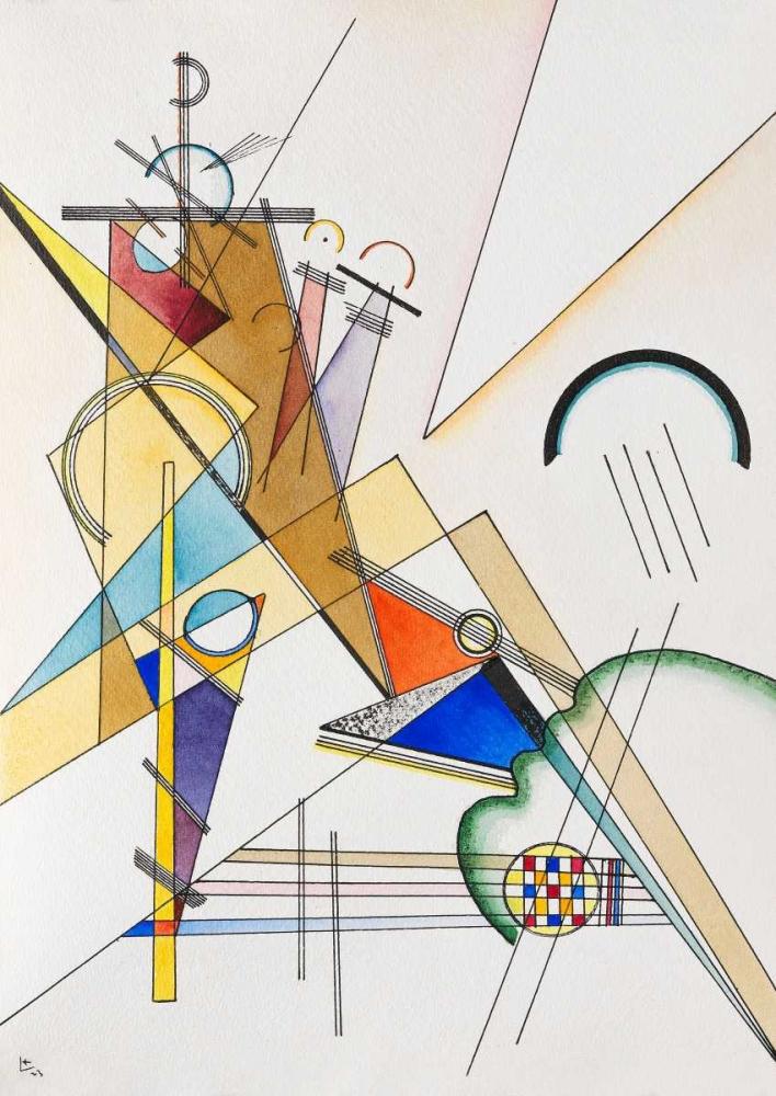 konfigurieren des Kunstdrucks in Wunschgröße Gewebe von Kandinsky, Wassily
