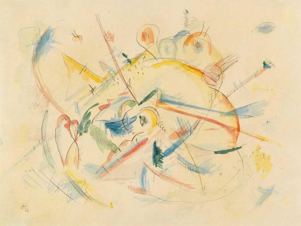 konfigurieren des Kunstdrucks in Wunschgröße Senza titolo von Kandinsky, Wassily