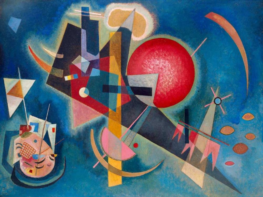 konfigurieren des Kunstdrucks in Wunschgröße Im Blau von Kandinsky, Wassily