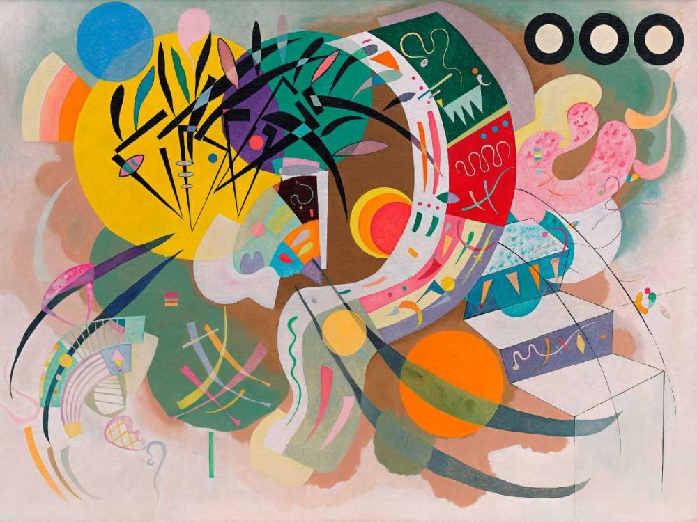 konfigurieren des Kunstdrucks in Wunschgröße Dominant Curve von Kandinsky, Wassily