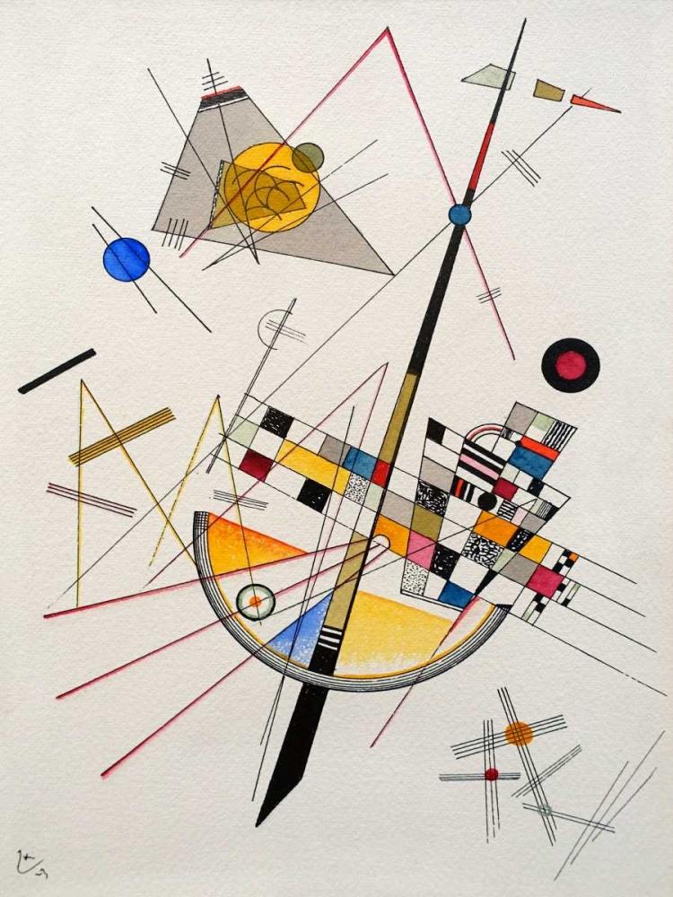 konfigurieren des Kunstdrucks in Wunschgröße Delicate Tension von Kandinsky, Wassily