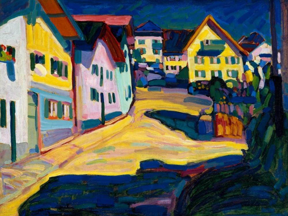 konfigurieren des Kunstdrucks in Wunschgröße Murnau Burggrabenstrasse von Kandinsky, Wassily