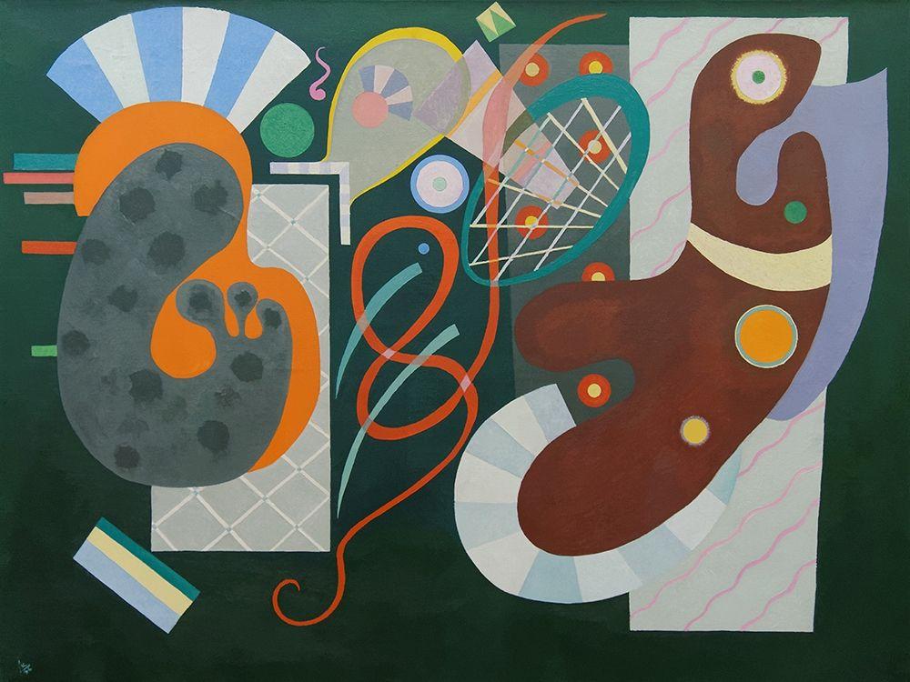konfigurieren des Kunstdrucks in Wunschgröße Noeud rouge von Kandinsky, Wassily