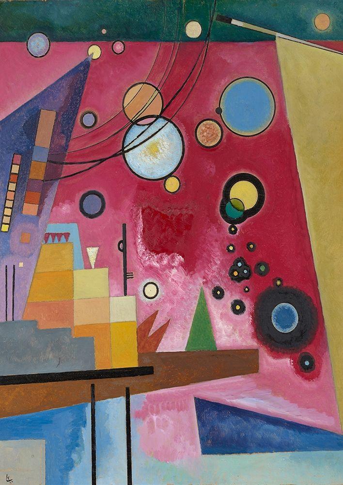 konfigurieren des Kunstdrucks in Wunschgröße Schweres Rot (detail) von Kandinsky, Wassily