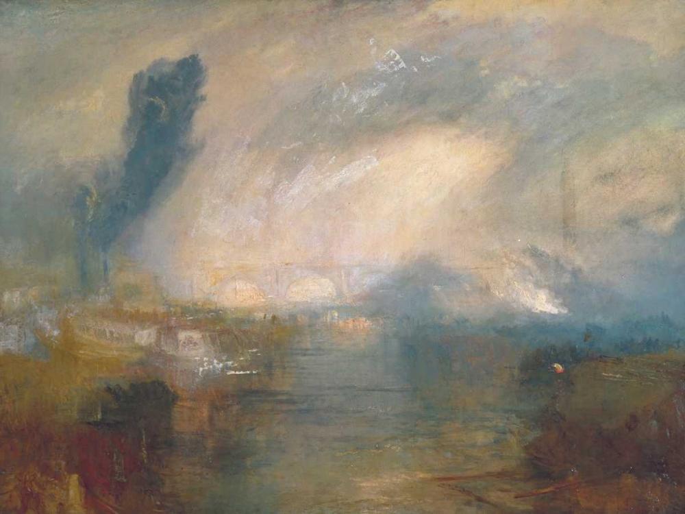 konfigurieren des Kunstdrucks in Wunschgröße The Thames above Waterloo Bridge von Turner, William